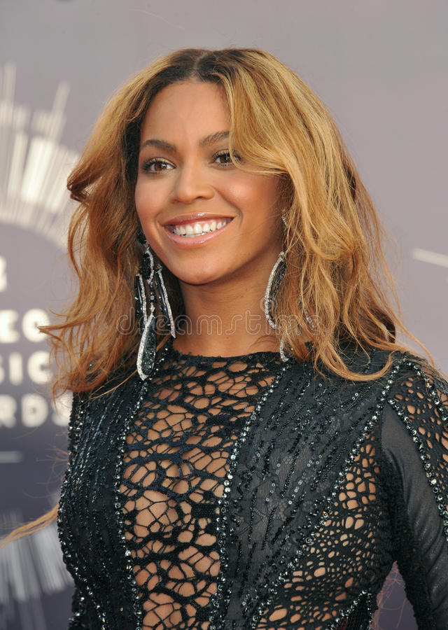 Beyonce Knowles. LOS ANGELES, CA - AUGUST 24, 2014: Beyonce Knowles at the 2014 MTV Video Music Awards at the Forum, Los Angeles