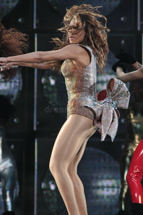 Beyonce levend bij O2 Londen royalty-vrije stock foto's