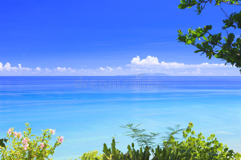 Beyond and over the sea. royalty free stock photos