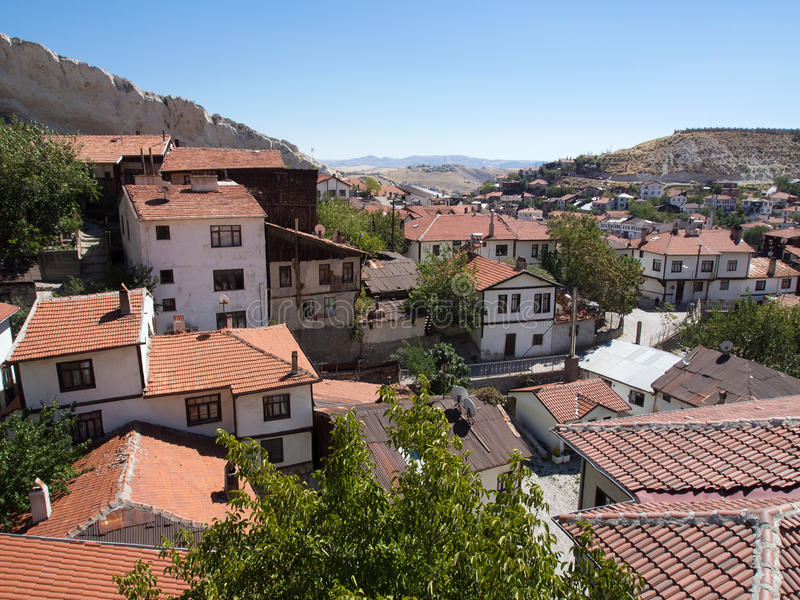 Beypazari Houses and Interesting Rocks. The Beypazari Houses at Ankara,Turkey with interesting rock shapes stock images