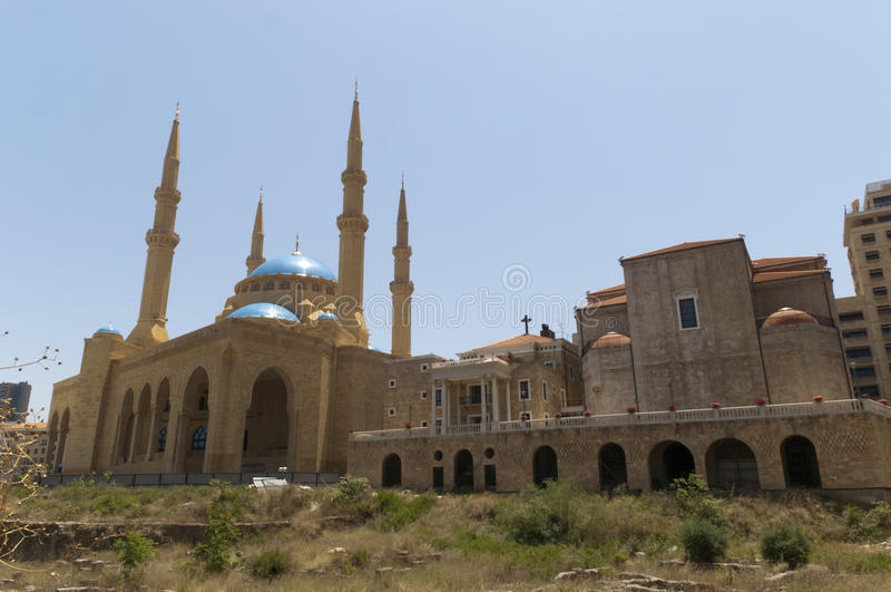 Beyrouth Liban - mosquée d'Omari d'Al images stock