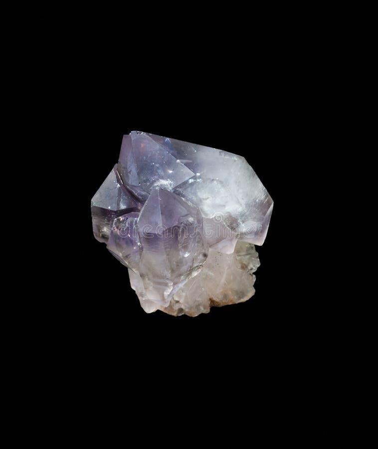 Bez leczenia ametystowi kryształy na a zdjęcia stock