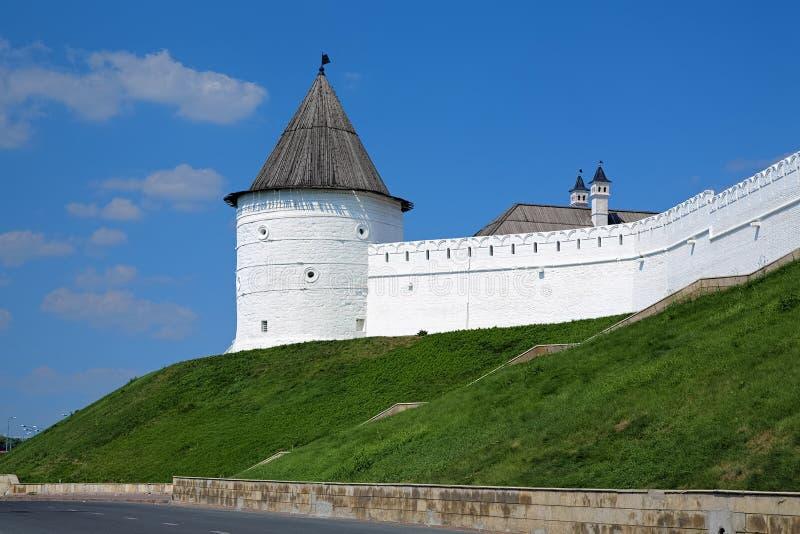 Bez nazwy Round wierza Kazan Kremlin, Rosja obraz royalty free