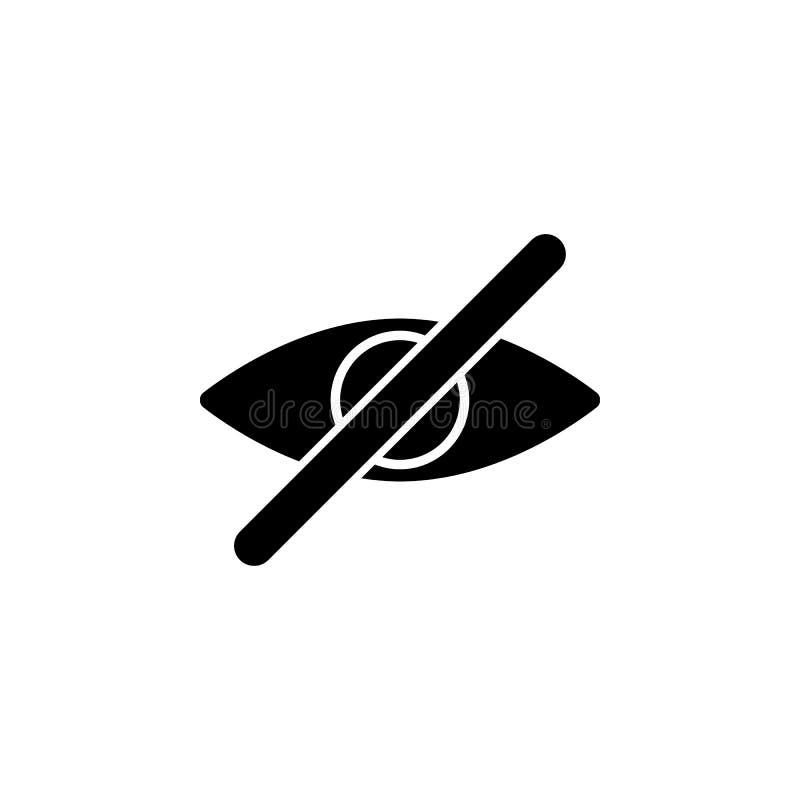 bez oko ikony Element minimalistic ikona dla mobilnych pojęcia i sieci apps Znaki i symbol inkasowa ikona dla stron internetowych ilustracji