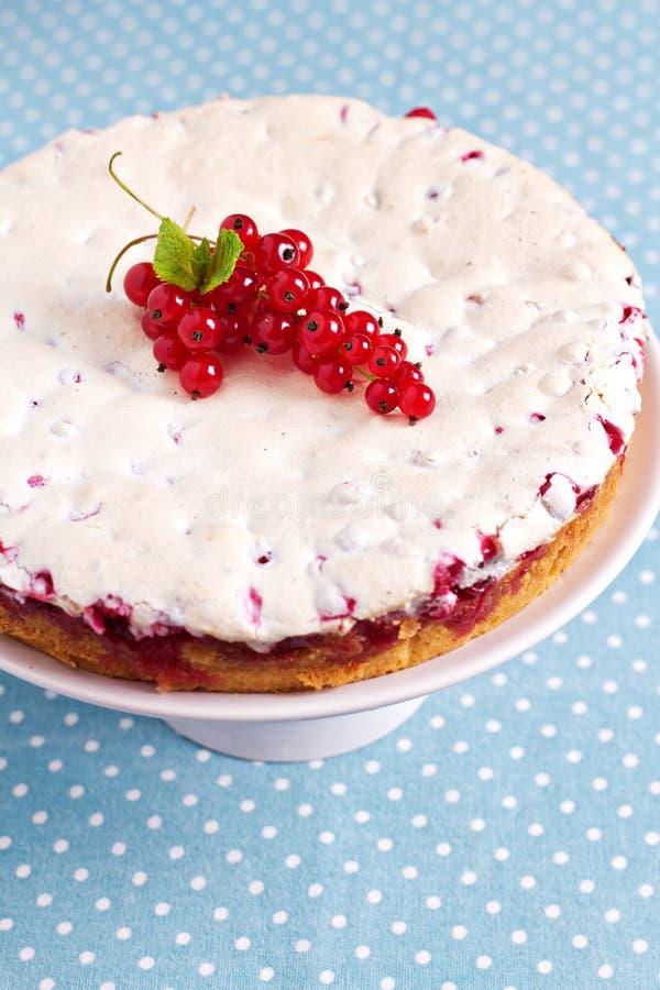 Beza czerwonego rodzynku tort zdjęcie stock