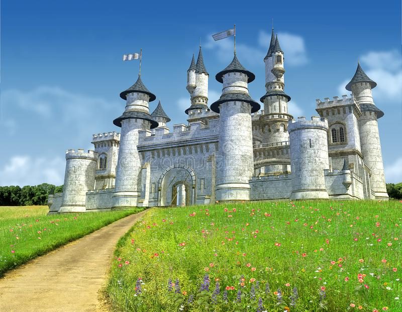 Bezaubernde Märchen-Prinzessin Castle vektor abbildung