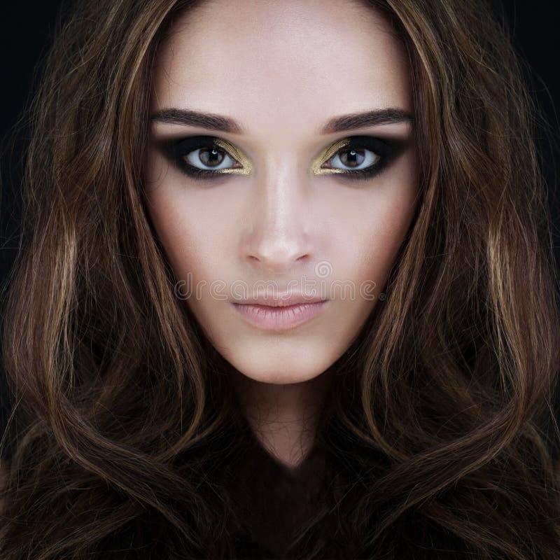 Bezaubernde Schönheit Vollkommenes Gesicht stockfoto