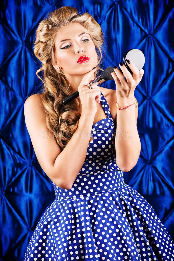Bezauberndes Make-up lizenzfreies stockbild