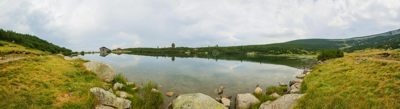 Bezbog Lake Panorama royalty free stock image