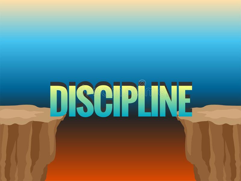 Bezdenność dyscyplina jak most i słowo ilustracja wektor