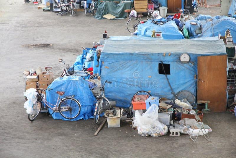 Bezdomni namioty zdjęcie stock