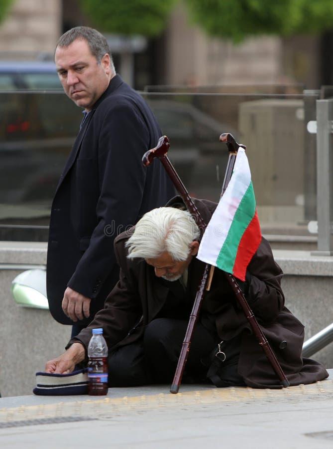 Bezdomny żebraka ubóstwo obraz stock