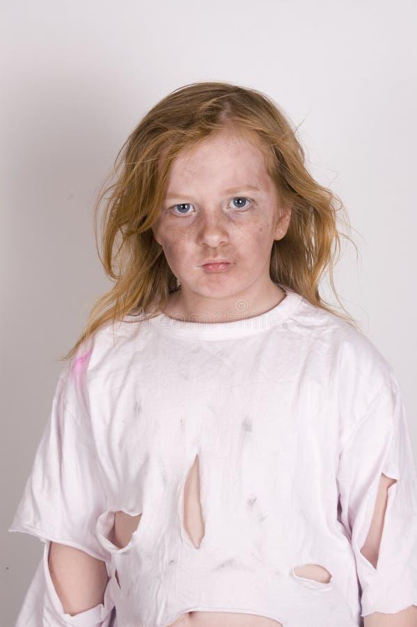 bezdomny dzieciak zła zdjęcie royalty free
