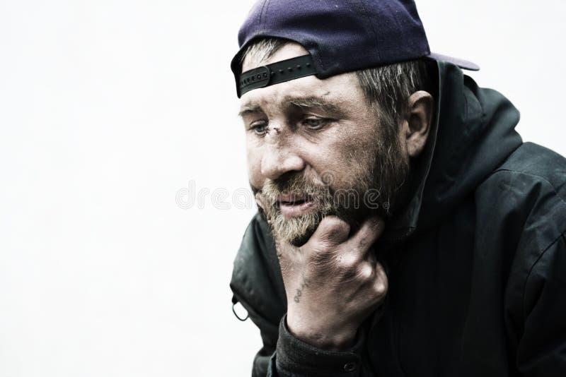 bezdomny mężczyzna fotografia royalty free