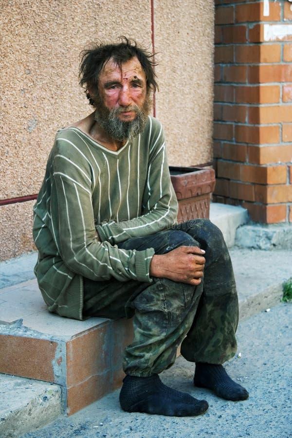 bezdomny mężczyzna zdjęcia royalty free