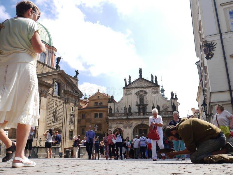 bezdomny Prague obrazy royalty free
