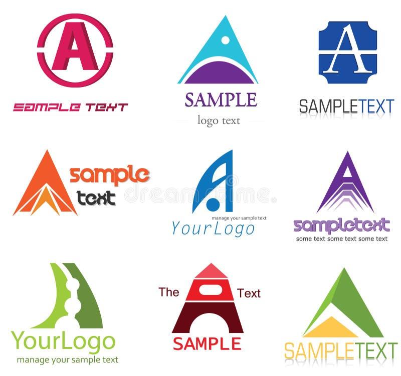 Bezeichnen Sie ein Zeichen mit Buchstaben stock abbildung