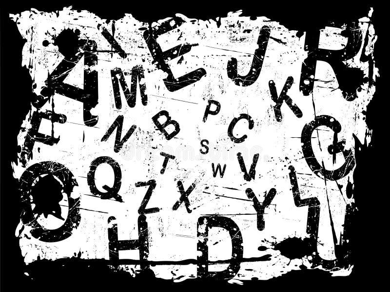 Bezeichnen Sie Grunge Hintergrund 1 mit Buchstaben lizenzfreie abbildung