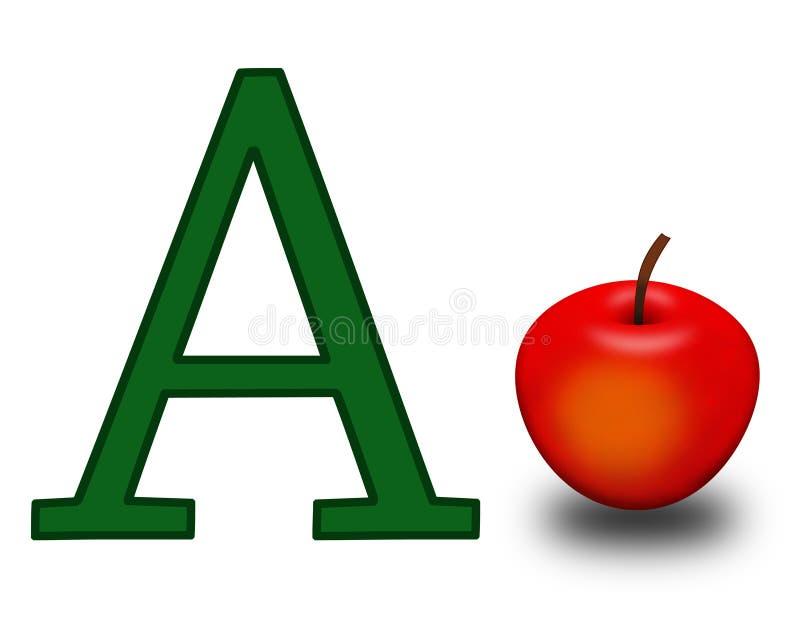 Bezeichnen Sie A mit Buchstaben stock abbildung