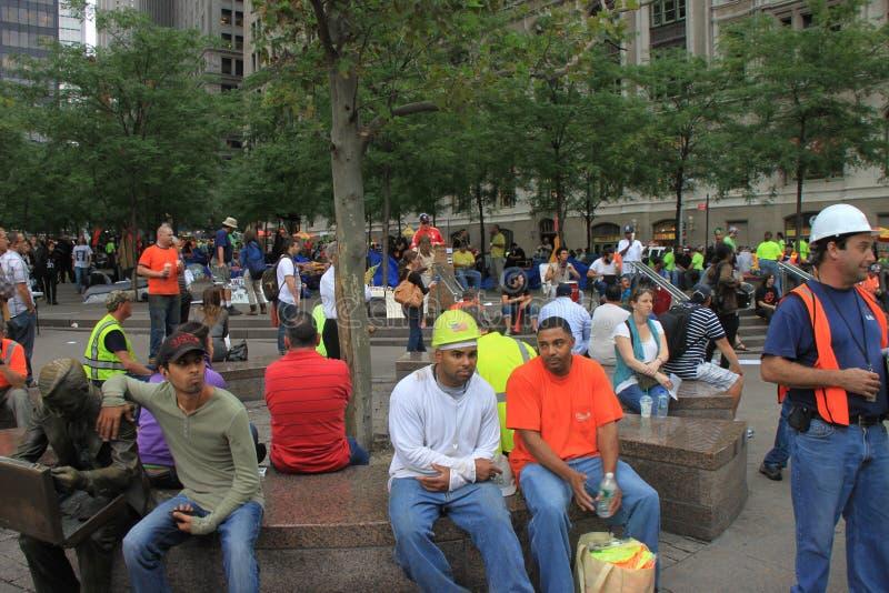 Bezet het protest van Wall Street stock afbeelding