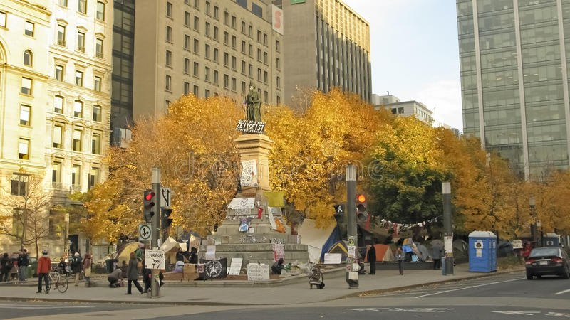 Bezet Montreal stock fotografie