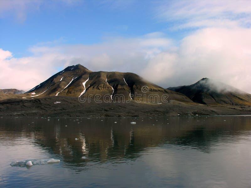 Bezienswaardigheden bezocht in Svalbard royalty-vrije stock afbeeldingen