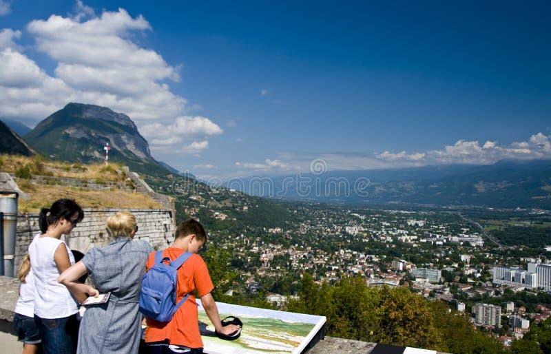 Bezienswaardigheden bezoekend Grenoble stock foto
