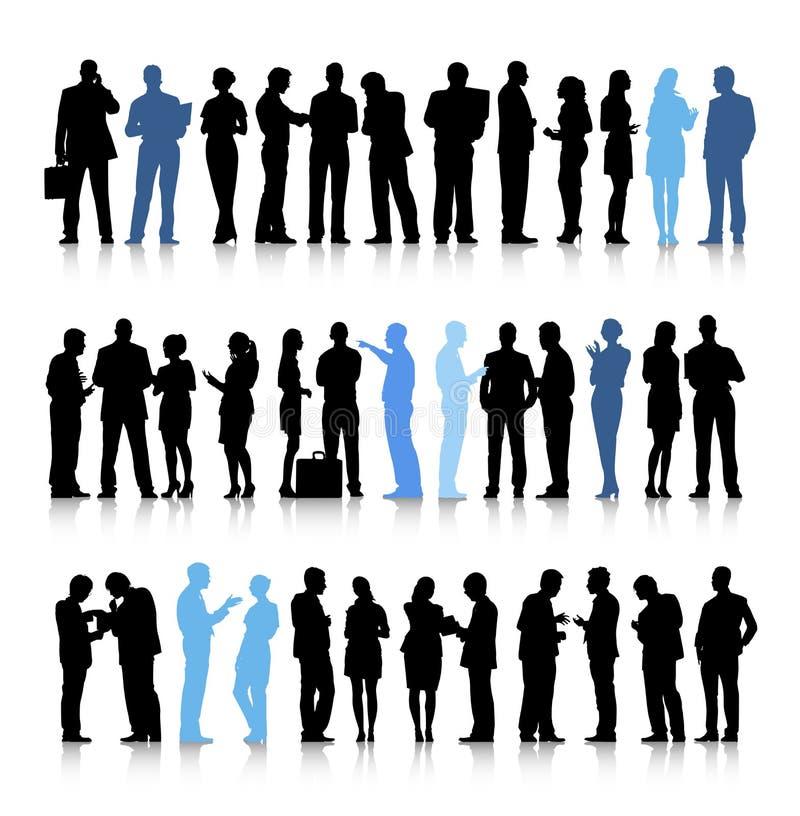 Bezig het Gespreksconcept van de Bedrijfsmensenbespreking royalty-vrije illustratie
