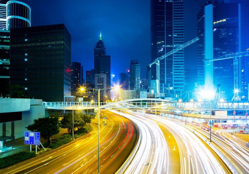Bezig verkeer in Hong Kong stock foto's