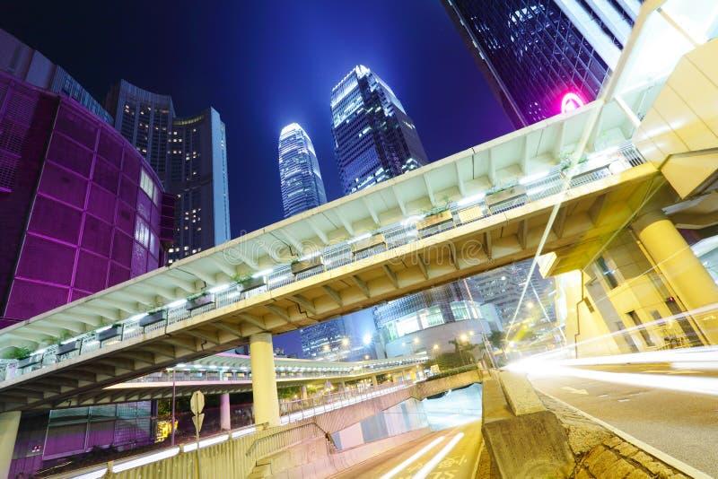 Bezig verkeer in Hong Kong royalty-vrije stock afbeeldingen