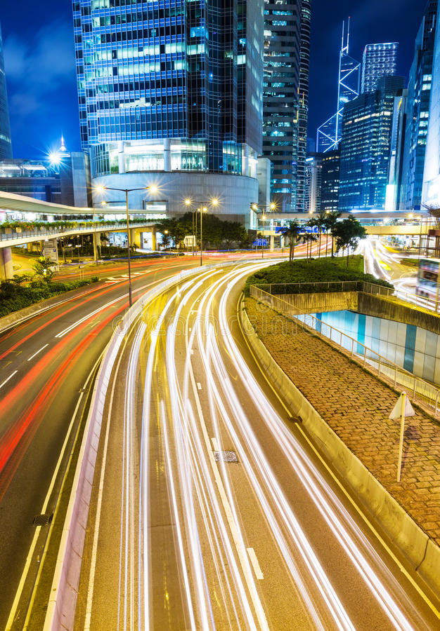 Bezig verkeer in stad royalty-vrije stock fotografie