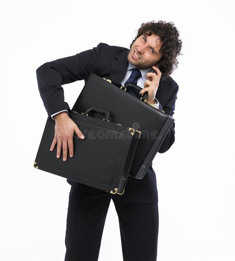 Bezige mens royalty-vrije stock afbeelding