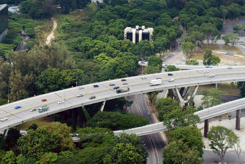 Bezige Snelweg, Singapore stock foto's