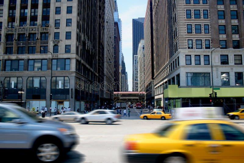 Bezige Stad stock foto