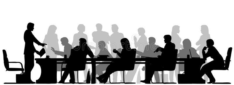 Bezige vergadering royalty-vrije illustratie