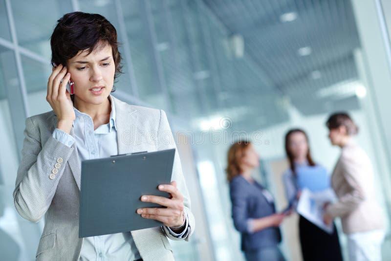 Bezige werkgever stock afbeeldingen