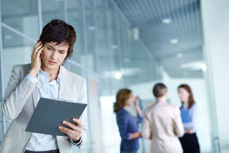 Bezige werkgever stock afbeelding