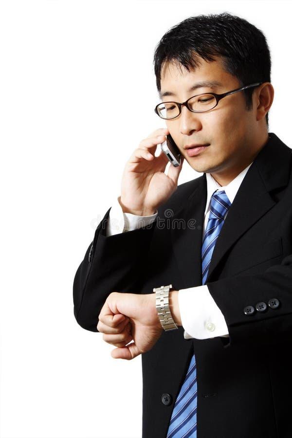 Bezige zakenman royalty-vrije stock foto's