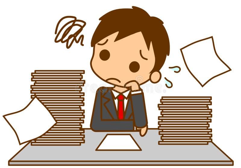 Bezige zakenman vector illustratie