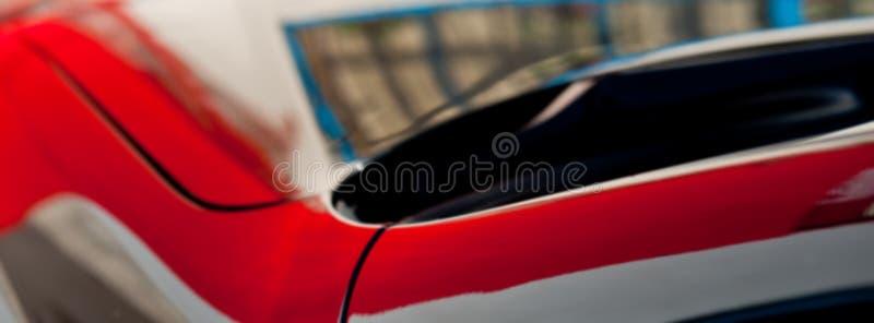 Bezinning over de verfoppervlakte van het autolichaam De banner van het Web royalty-vrije stock afbeeldingen