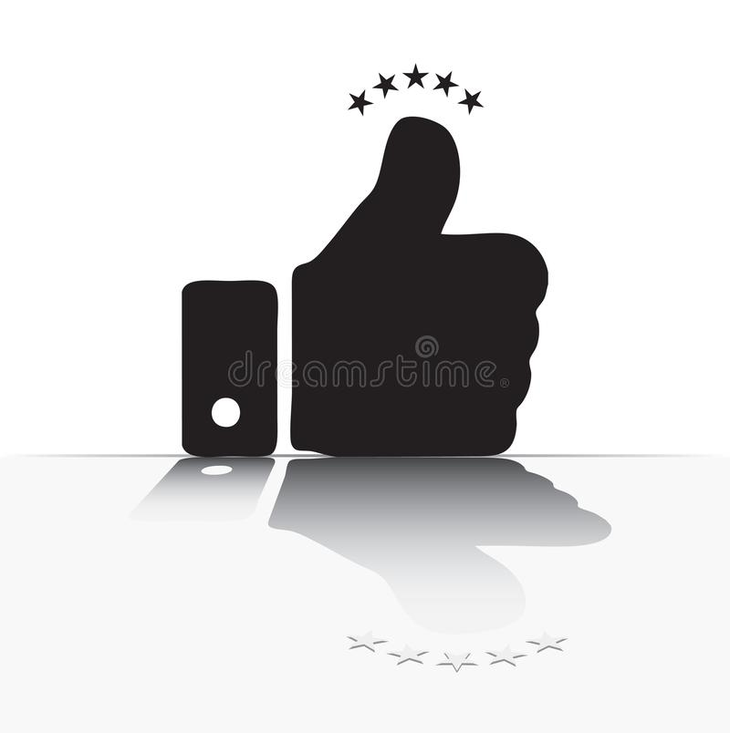 Bezinning van een vinger stock illustratie