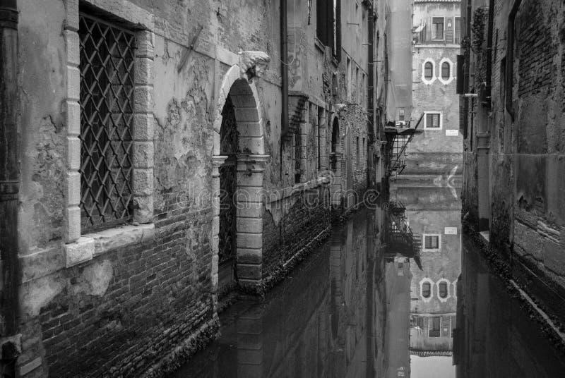 Bezinning in Venetië royalty-vrije stock foto's