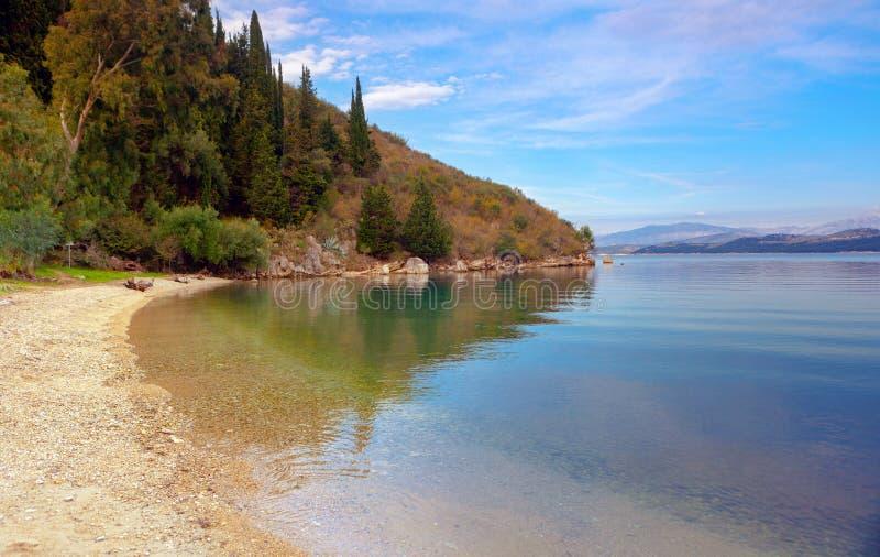 Bezinningen over Korfu royalty-vrije stock fotografie
