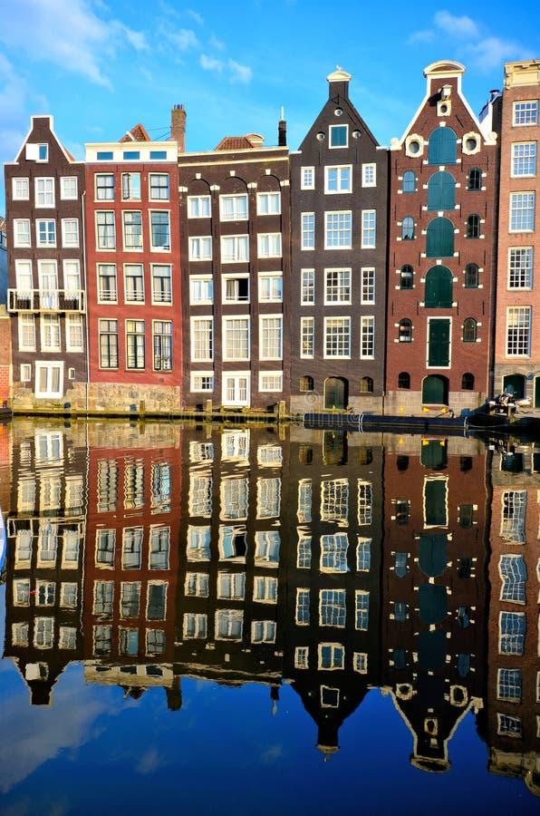 Bezinningen van Amsterdam stock foto's