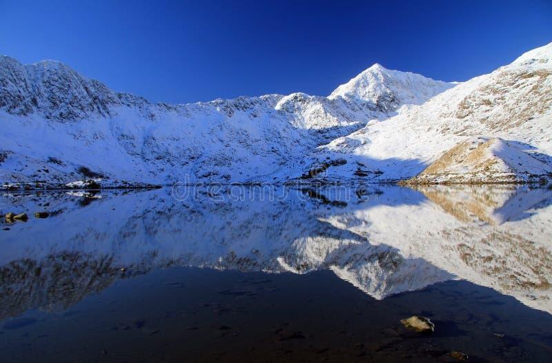 Bezinningen van Snowdonia 249 stock afbeeldingen