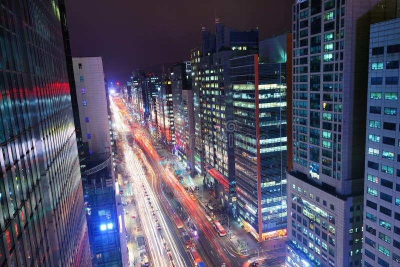 Bezirk Seouls Gangnam lizenzfreie stockfotografie