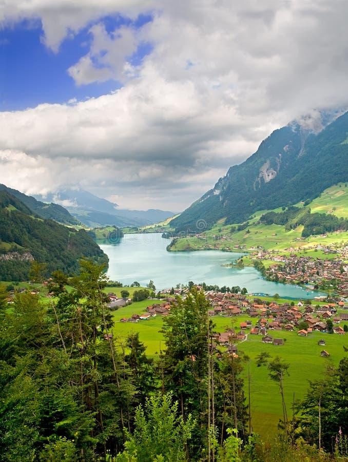 Bezirk von Fribourg, die Schweiz stockfotografie