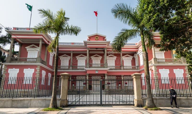 Bezirks-Regierungsstelle in Macao lizenzfreies stockfoto