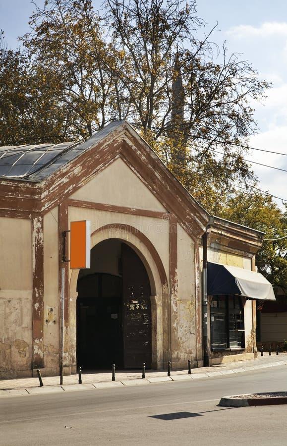 Bezisten (被盖的义卖市场)在比托拉 马其顿 库存图片