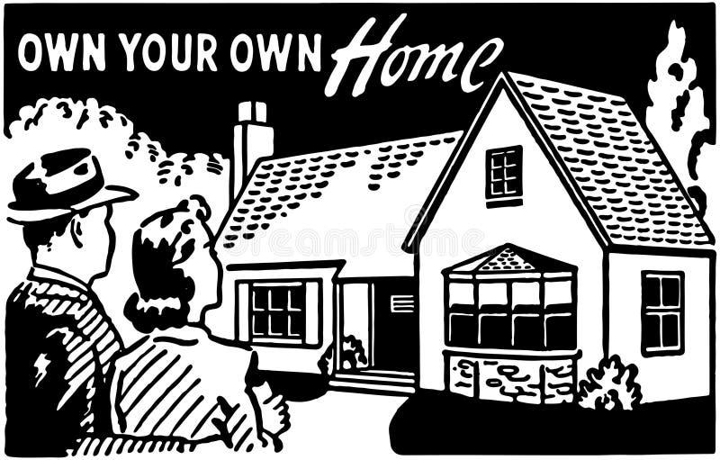 Bezit Uw Eigen Huis 3 royalty-vrije illustratie